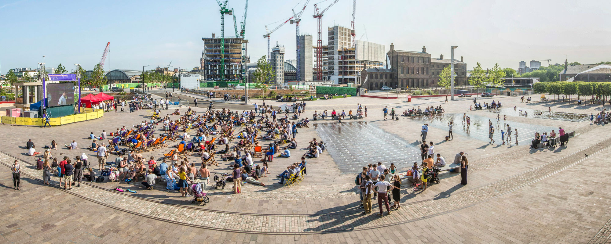 Granary Square has placed public realm at the heart of the development