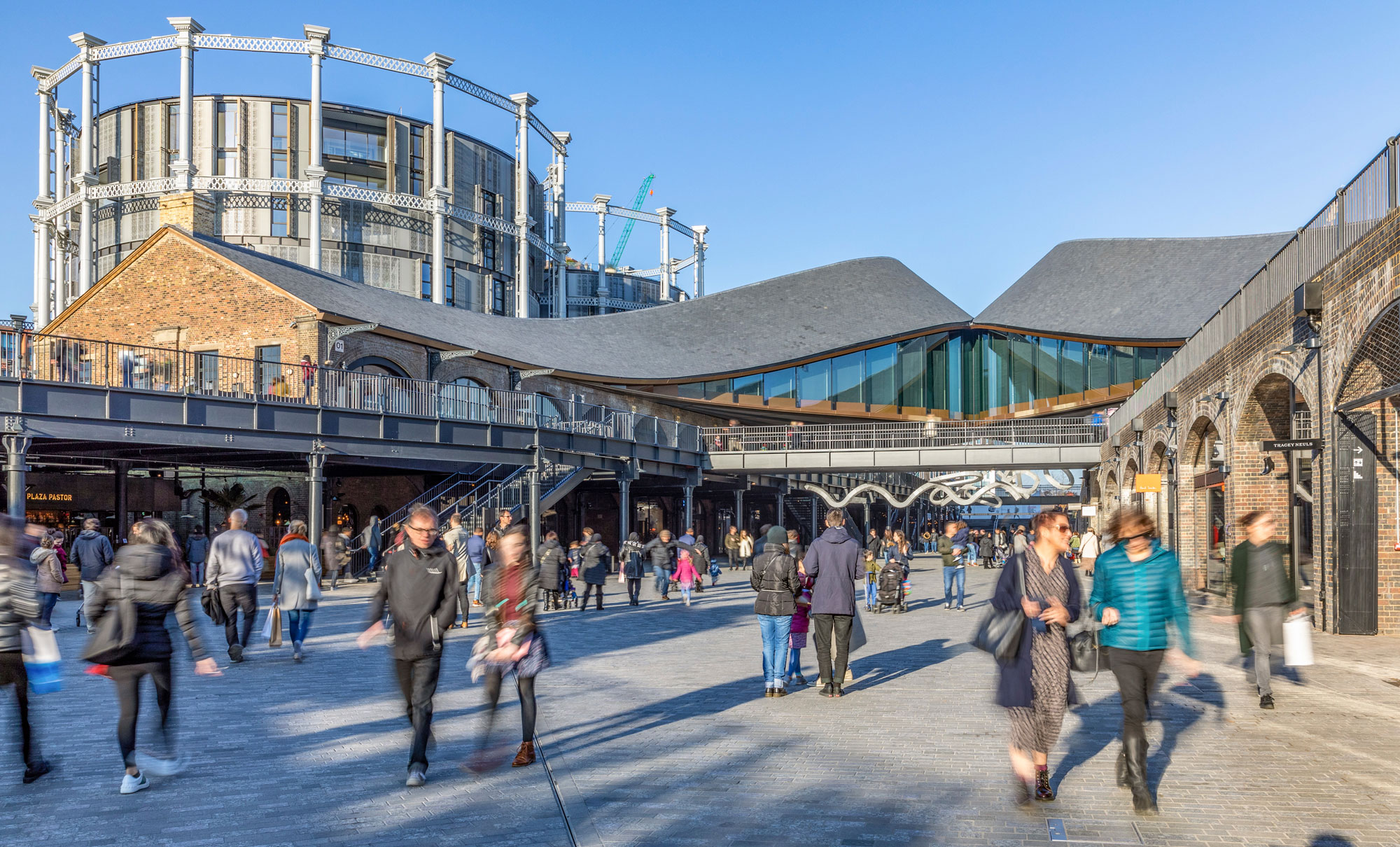 Coal Drops Yard opened in November with a range of high-end shops. The gasworks now contain luxury flats