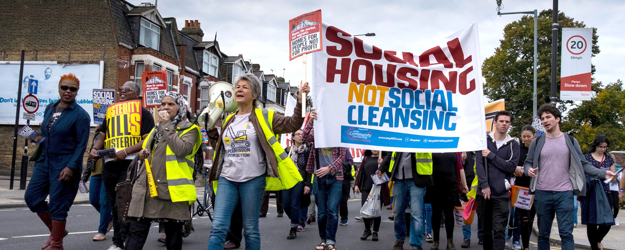 Angry residents marching against Haringey Council Photo: Paul Swinney/Alamy