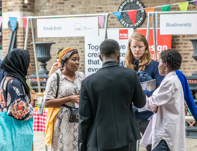 The market serves refreshments all day and is the meeting place at the heart of the event