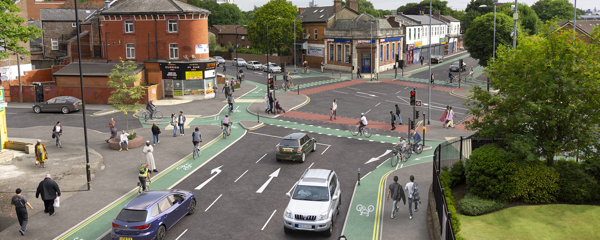 Chorlton Cycleway, Brooks Bar Junction