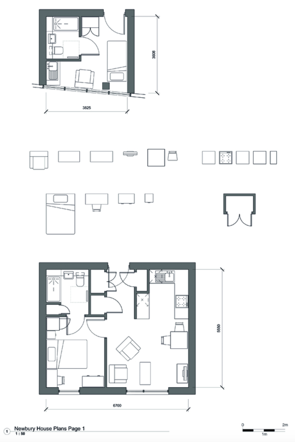 Comparison of a one-person studio in Newbury House compared to the space standard equivalent