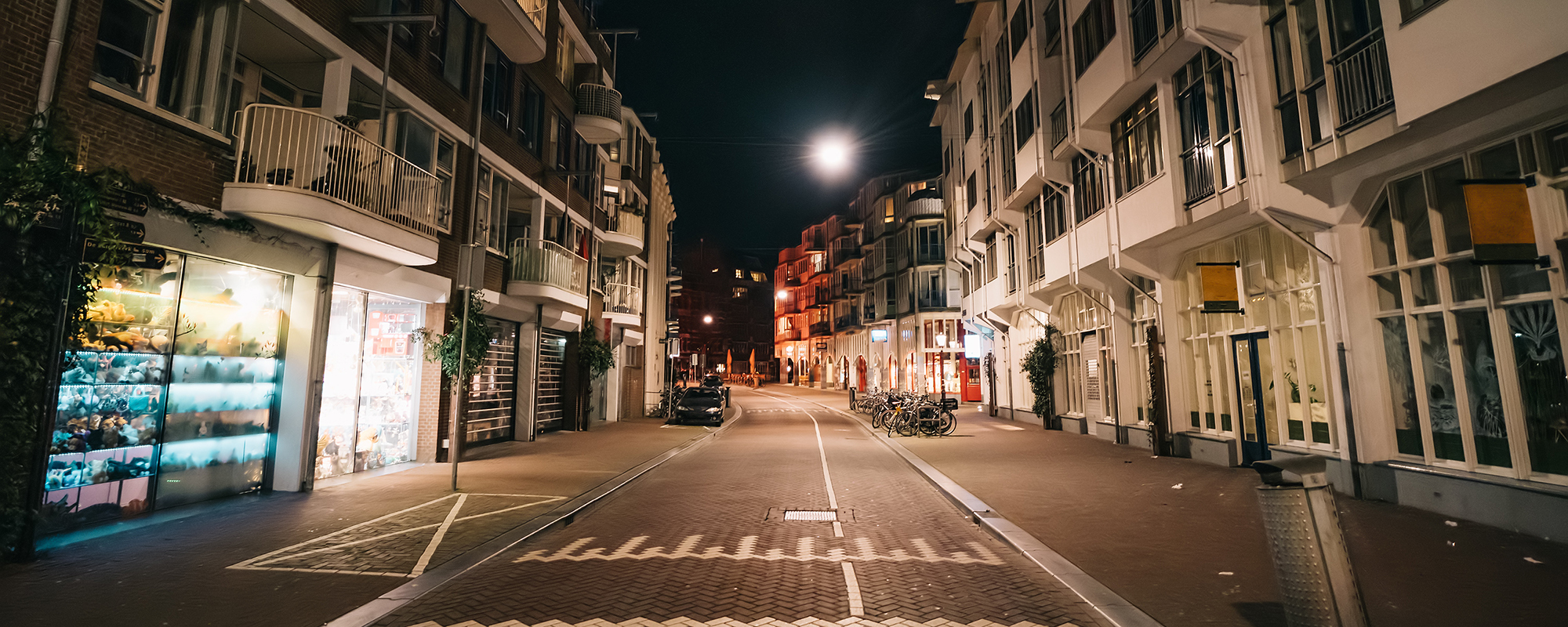 Empty streets of Amsterdam at night (picture: Getty)