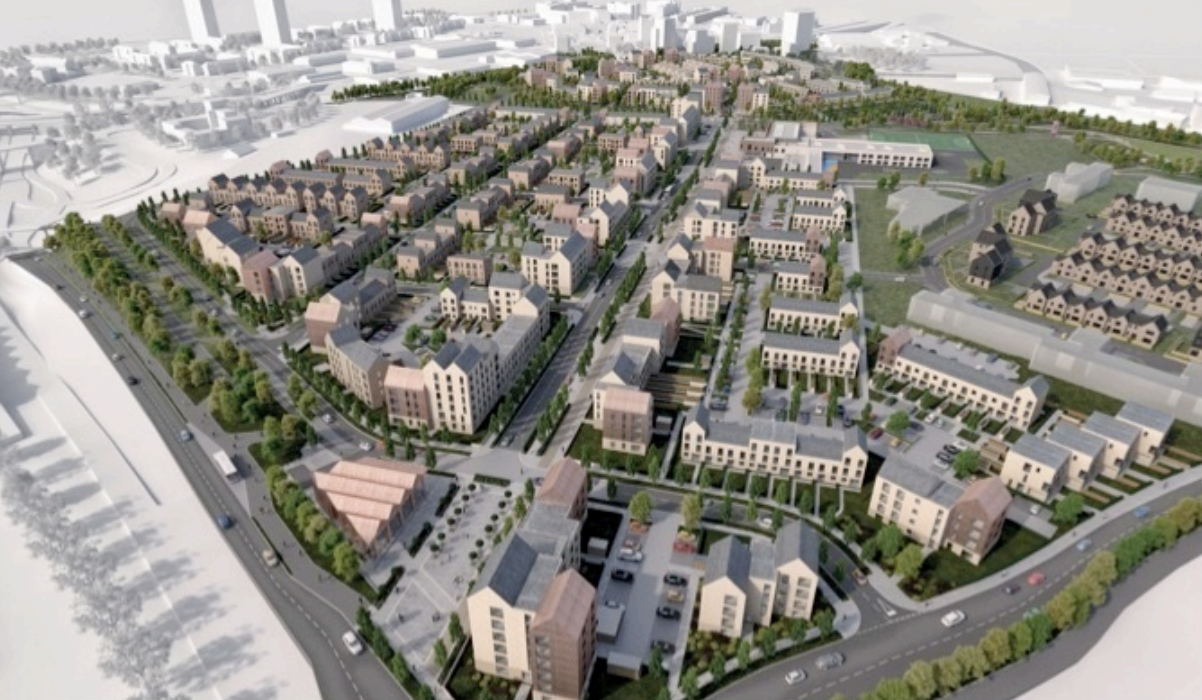 There are 1,000 homes planned for Sighthill