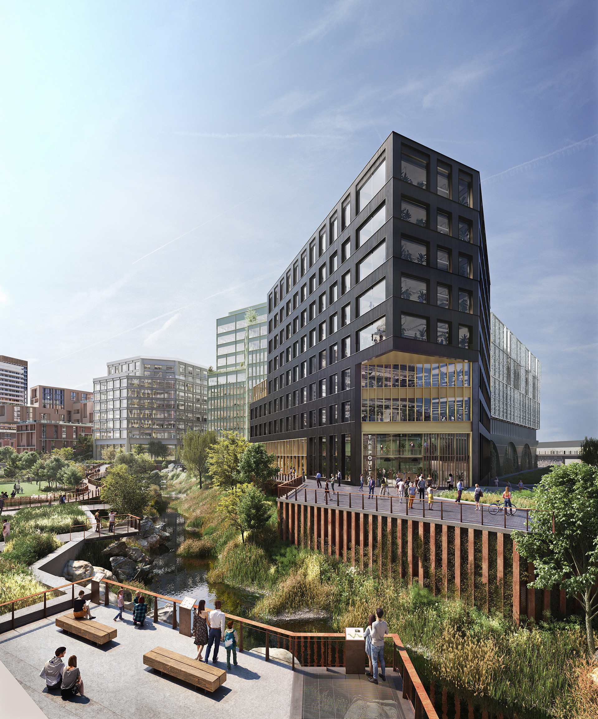 Digital visualisation of the future Mayfield development and park