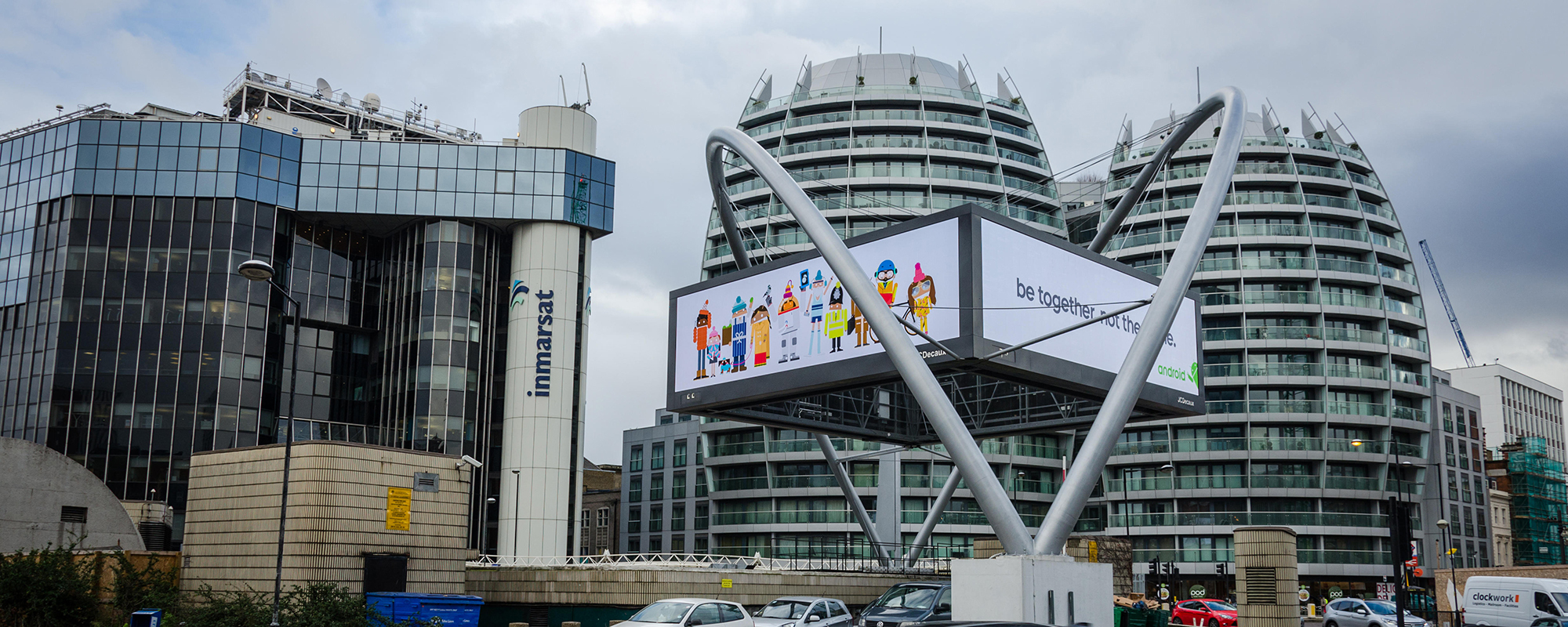 Silicon Roundabout in Old Street, Shoreditch is a tech cluster that has remained deprived. Getty